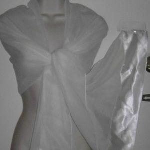 TR Bentley Accessories - Chiffon Satin Wrap Career Evening Wedding Scarf